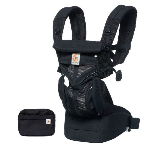 Portabebés Ergonómico Ergobaby Omni 360 Cool Air Mesh Onyx Black